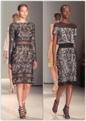 Tadashi Shoji Lace Black dress Spring 2015