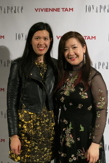 With Mandy Tang (right)