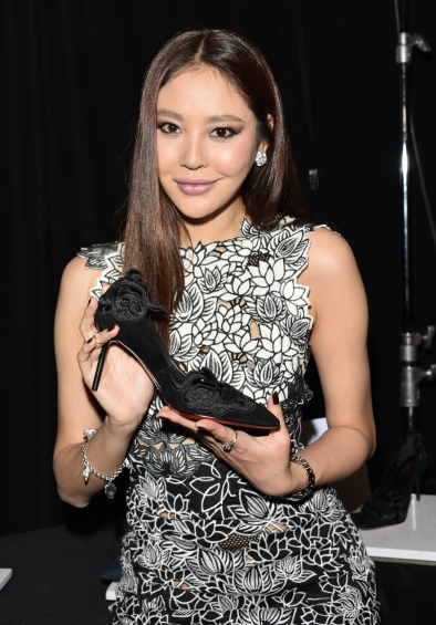Luo Zilin seen backstage at the Vivienne Tam show during Fall 2016 New York Fashion Week: The Shows at The Arc, Skylight at Moynihan Station in New York City, Monday, February 15, 2016.Photo by Jennifer Graylock