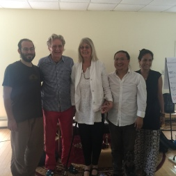 Dr. Robert Thurman and wife Nena von Schlebrügge, Dr. Nida and Menla staff